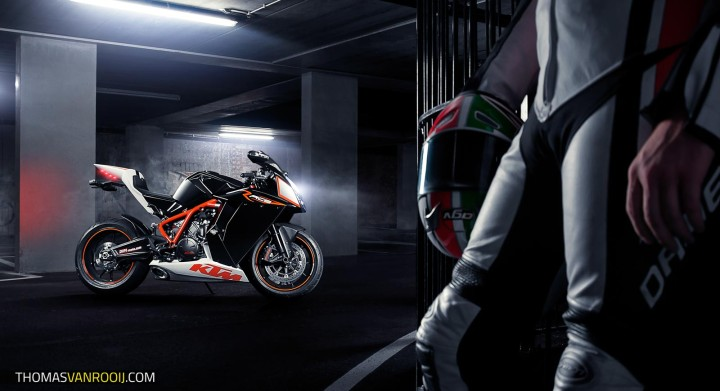 Behind the Scenes  KTM RC8R Photoshoot