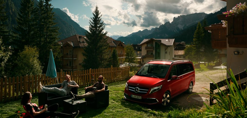 Mercedes-Benz V-Class in the Dolomites